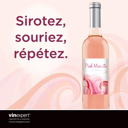 * limité 2020 * Le Pink Moscato est de retour pour un temps limité! Léger et rafraîchissant en bouche avec des saveurs de fraises, framboises et ce ...