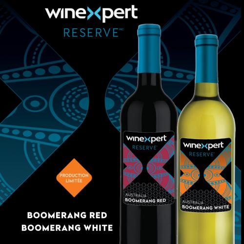 Boomerang Australie Vin Rouge et Vin Blanc