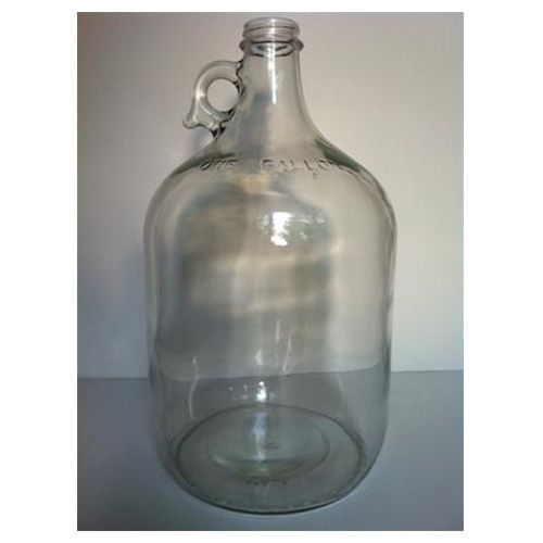 Gallon en verre transparent