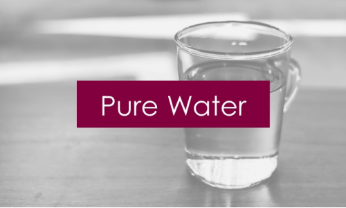 Pure water by reverse osmosis